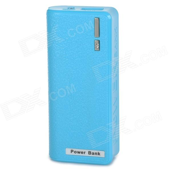 3.7V ''6800mAh'' Power Bank w/ Flashlight + Charging Cable for IPHONE - Blue (Cable-100cm)