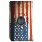 Retro US Flag Pattern Flip-open PU Case w/ Holder for Samsung Galaxy Tab Pro 8.4 T320 - Multicolored