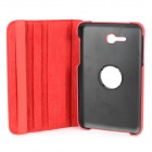 Protective 360 Degree Rotational Case w/ Stand / Stylus Pen for Samsung Galaxy Tab 3 Lite T110 - Red