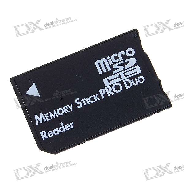 MicroSD/TF to MS Pro Duo Adapter - Black (16GB Max)