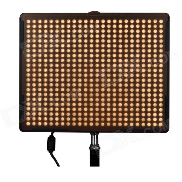 Aputure Amaran AL-528W 528-LED 30W 1200lm 5500K Video Light - Black (EU Plug)Lighting and Flash<br>Form ColorBlackBrandAputureModelAL-528WMaterialABS PlasticQuantity1 DX.PCM.Model.AttributeModel.UnitCompatible BrandCanon, Nikon, Sony, Olypous, Pentax, PanasonicCompatible ModelsDSLR / CamcorderActual Lumens1200 DX.PCM.Model.AttributeModel.UnitTheoretical Lumens1200 DX.PCM.Model.AttributeModel.UnitTypeLEDVarible Focus YesColor Temperature5500KIllumination Angle75°Working Voltage   DC 18 DX.PCM.Model.AttributeModel.UnitPower30 DX.PCM.Model.AttributeModel.UnitLED Quantity528 DX.PCM.Model.AttributeModel.UnitBattery TypeLi-polymer batteryBattery included or notNoCertificationCE, RoHSOther FeaturesOperation Current: 2.8A Average Life Span: 100,000hPacking List1 x Video Light 1 x Orange Warming Filter 1 x White Diffusing Filter 1 x Lamp Bracket 1 x 1/4-3/8 Screw 1 x Power Adapter (100~240V, 190cm) 1 x EU plug power case (120cm) 1 x Carrying Case 1 x Shoulder strap (140cm) 1 x English / Chinese manual 3 x Backup LED lights 1 x Lights replacement card<br>