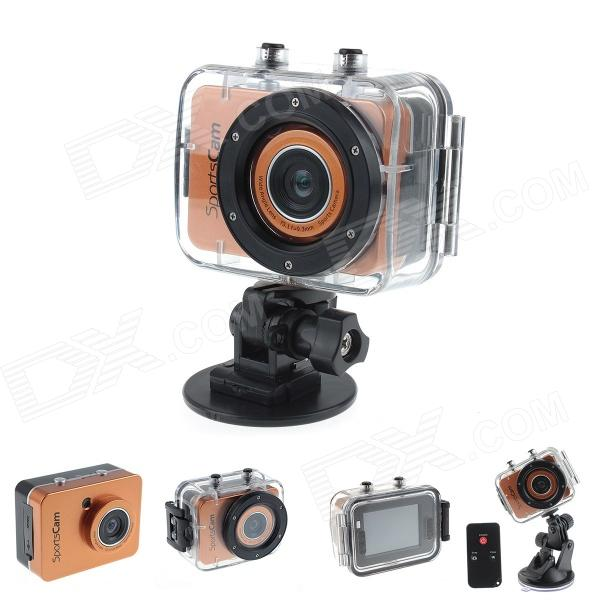 Фото - SPC01 2.4 LCD HD 1080P 5.0MP CMOS F3.1 f9.3mm Diving Camera / Sports Camera - Orange + Black micro camera compact telephoto camera bag black olive