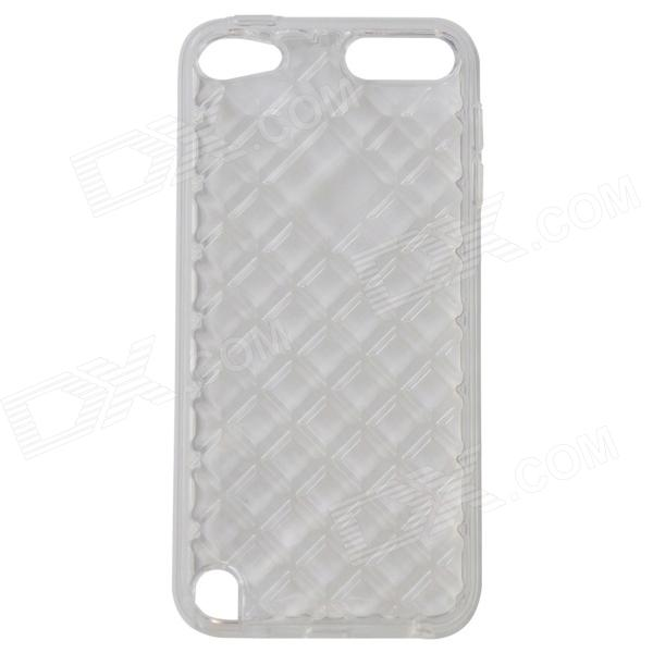 Diamond Checked Protective TPU Soft Back Case Cover for IPOD TOUCH 5 - Translucent White