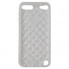 Diamond Checked Protective TPU Soft Back Case Cover para IPOD TOUCH 5 - Branco translúcido