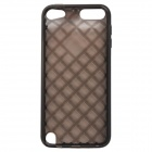 Diamond Checked Protective TPU Soft Back Case Cover for IPOD TOUCH 5 - Translucent Black