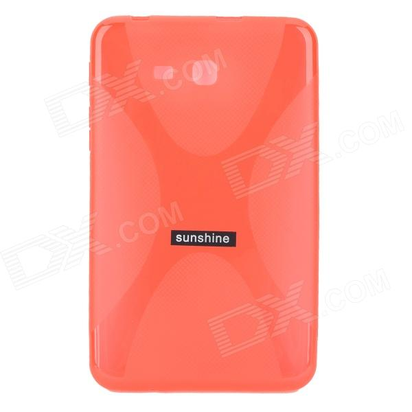 X-Shape Pattern TPU Back Case w/ Screen Guard for Samsung Galaxy Tab 3 Lite T110 / T111 - Red sunshine x pattern protective tpu case w screen protector for samsung t110 t111 milky white