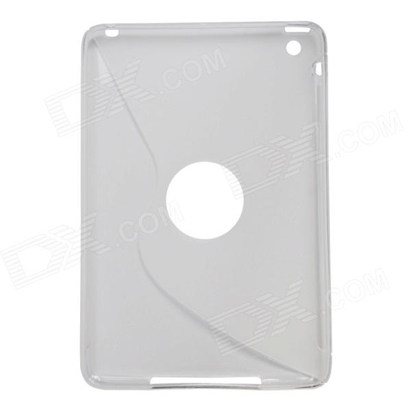 S-Line Style Protective TPU Soft Back Case for IPAD MINI 2 - Translucent White s style protective soft tpu back case for nokia lumia 928 translucent grey