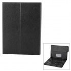 Wireless Bluetooth V3.0 78-key Keyboard w/ PU Case w/ Stand for 10'' 10.1'' Tablet PC - Black