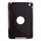 S-Line Style Protective TPU Soft Back Case for IPAD MINI 2 - Translucent Black