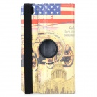 Flag of US & Architectural Sights Pattern PU Case w/ Stand for Samsung Tab Pro 8.4 T920