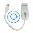 WBTUO USB 3.0 to RJ45 10/100/1000Mbps Gigabit LAN Ethernet Network Adapter Card - White