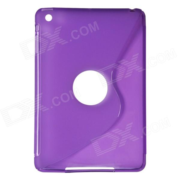 S-Line Style Protective TPU Soft Back Case for IPAD MINI 2 - Translucent Purple s style protective soft tpu back case for nokia lumia 928 translucent grey