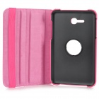 Flip-open PU Case w/ 360' Rotating Back + Holder + Screen Guard for Samsung Galaxy Tab 3 Lite T110