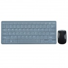 CHEERLINK 2.4GHz Super Slim 78-Key Mini Wireless Keyboards w/ Touch Mouse Upgrade 3 - Black