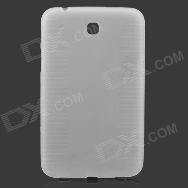 Protective Anti-slip PVC + TPU Case for Samsung T210 / T211 / P3200 / P3210 - Translucent White