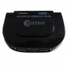 WBTUO Super High Speed 5Gbps 4-port USB 3.0 HUB - Black
