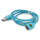 IKKI USB 3.0 Male to Micro 9-Pin Male Woven Mesh Data Charging Cable for Samsung P900 - Blue