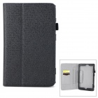 Protective PU Flip Open Case w/ Stand / Card Slots for 8'' Lenovo miix2 - Black