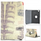 Retro Leaning Tower of Pisa Pattern Flip-open PU Case w/ Holder for Samsung Galaxy Tab Pro 8.4 T320