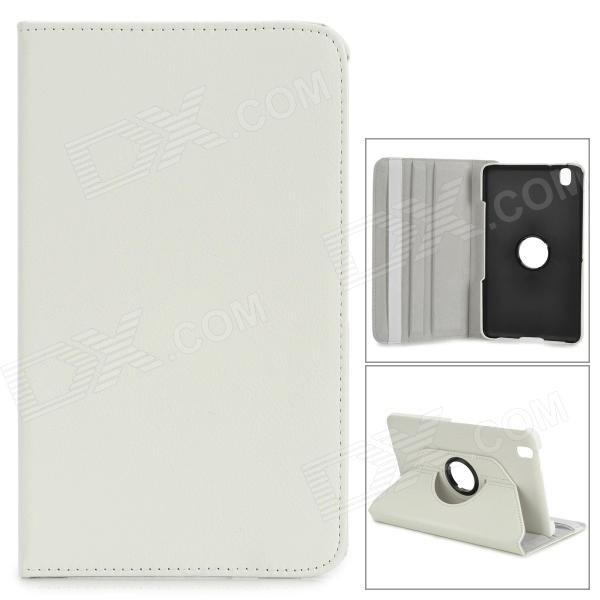 Protective Flip-open Stand Case w/ Screen Protector for Samsung Galaxy Tab Pro 8.4 T320 - White