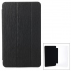Protective PU Case w/ Stand for 8.4'' Samsung Galaxy Tab Pro T320 / 321 - Black + Transparent