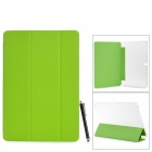 Flip-open PC Back Case w/ Folding PU Cover / Holder + Stylus + Screen Guard for Samsung Note Pro