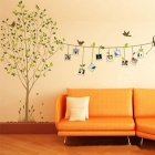 Creative Photo Frame Memory Tree Wall Sticker - Multicolored