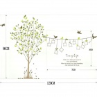 Creative valokuvakehys Memory Tree Wall Sticker - Multicolored