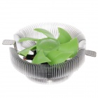 Tianjifeng Apollo Professional CPU Heatsink with Cooling Fan - Green + Silver