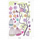 Colorful Birdcage of Bohinemian Dawn Wall Sticker - Multicolored
