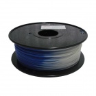 PLA-BU-W-1.75-1.0 Color Changed emperature Series Blue to White 1.75mm 3D PLA Print Cable (350m)