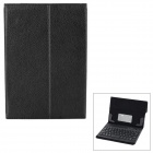 Wireless Bluetooth V3.0 59-key Keyboard w/ PU Case w/ Stand for 7.7'' 7.9'' Tablet PC - Black