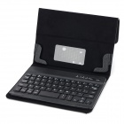 V3.0 Bluetooth Wireless 59-key Keyboard w / caja de la PU w ​​/ Stand de 7.7'' 7.9'' Tablet PC - Negro