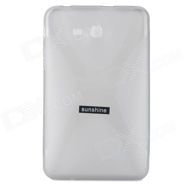 ''X'' Shaped Anti-skid Protective TPU Back Case + Screen Protector for Samsung Galaxy Tab 3 Lite T11