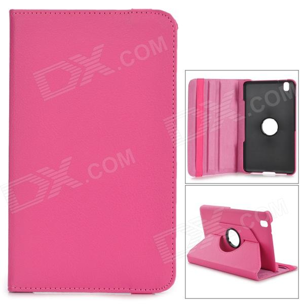 Protective Flip-open Stand Case w/ Screen Protector for Samsung Galaxy Tab Pro 8.4 T320 - Deep Pink stylish protective flip open pu case w stand screen protector for samsung galaxy tab pro 8 4 t320