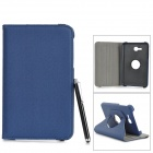 Flip-open PU Case w/ Holder + Card Slot + Stylus + Screen Guard for Samsung Tab 3 Lite T110 T111