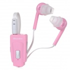 Bluedio EH Clip-on Bluetooth V4.0 Headset w/ Microphone - Pink