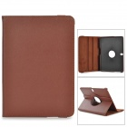 Lychee Pattern Protective PU + PC Case w/ Stand for Samsung Galaxy Tab Pro 10.1 / T520 - Brown