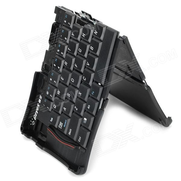 portable folding external usb wired keyboard for cell phone tablet pc black free shipping. Black Bedroom Furniture Sets. Home Design Ideas