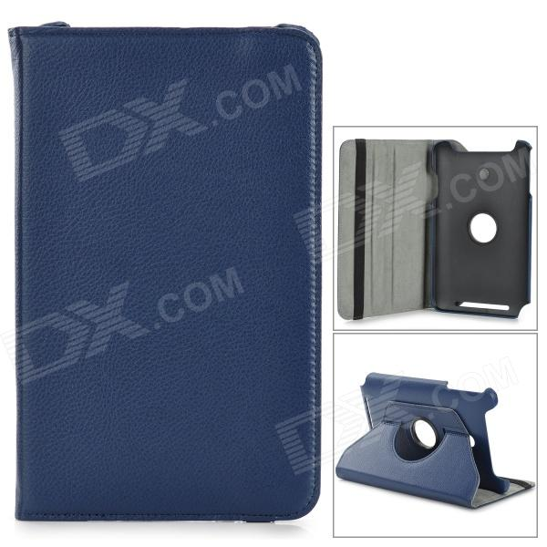 asus vivotab note 8 купить Stylish Flip-open PU Case w/ Holder + 360' Rotating Back for ASUS VivoTab Note 8 / M80TA - Blue