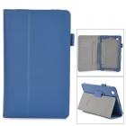 Stylish Flip-open PU Case w/ Holder + Card Slot for Samsung Tab Pro 8.4 T320 / T321 / T325 - Blue