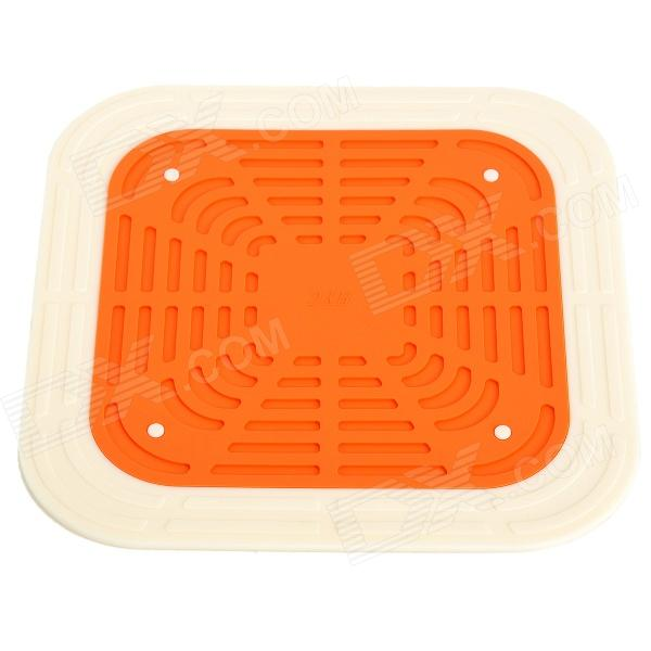 2-in-1 Silicone Insulation Mat / Pad - Beige + Orange