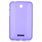 Protective Anti-slip PVC + TPU Case for Samsung T210 / T211 / P3200 / P3210 - Purple