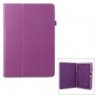 Lychee Pattern Protective PU Case w/ Stand for Samsung Galaxy Note Pro P900 - Purple