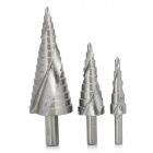 4-32mm 4-20mm 4-12mm HSS 4241 Step Drill Bits - Silver (3 PCS)