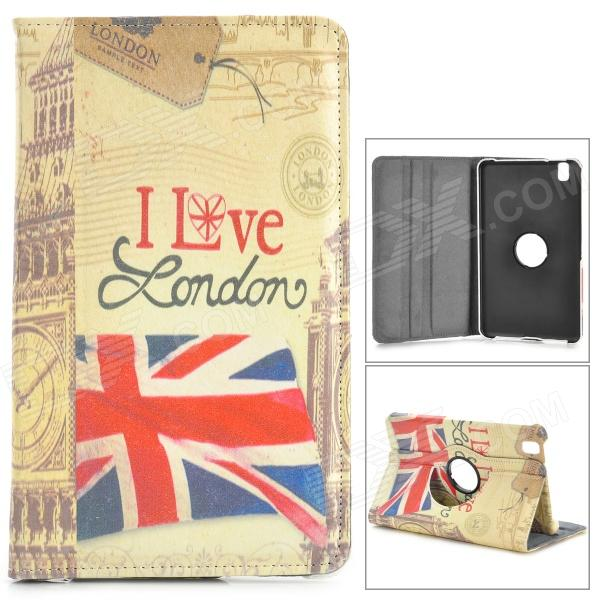 Retro UK Flag Pattern Stamp PU Case w/ 360' Rotating Back for Samsung Galaxy Tab Pro 8.4 T320 uk flag pattern 360 rotary protective pu case w stand for samsung galaxy tab s 10 5 t800
