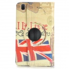 Retro UK Flag Pattern Stamp PU Case w/ 360' Rotating Back for Samsung Galaxy Tab Pro 8.4 T320