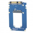 "2.5"" mSATA to SATA SSD Adapter Card - Blue + Black"