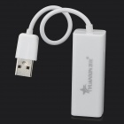 USB Male to Network Female Adapter - White