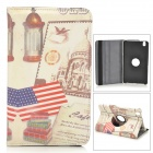 USA National Flag Pattern Protective PU Leather Case w/ Stand for Samsung Galaxy Tab Pro 8.4 T320